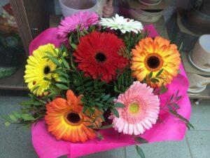 Букетиз7разноцветныхгербер. в Янауле с доставкой