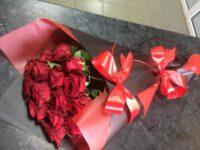 """Букет """"Красное Рандеву"""" 15 шикарных красных роз с доставкой в Янауле"""
