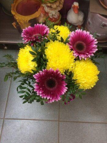 Шляпная коробка из цветов в Янауле с доставкой