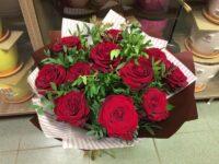Букет из 11 свежих и красивых роз с доставкой в Янауле