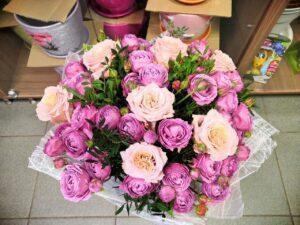 Букет из пионовидных роз в Янауле