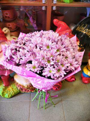 Букет из хризантем розовый в янауле