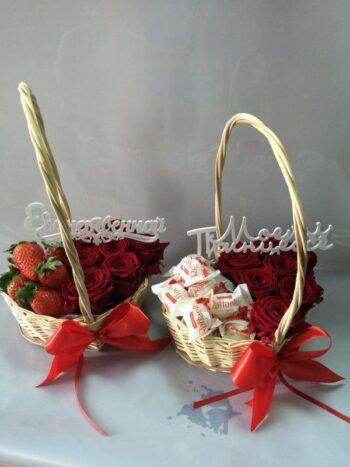 Цветочно - сладкая корзинка