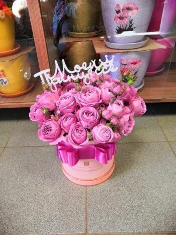 Букеты из 11 кустов пионовидных роз