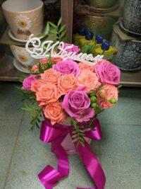 Шляпная коробка из роз янаул