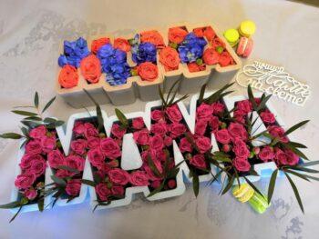 """Цветы в каркасе """"МАМА"""" Янаул"""