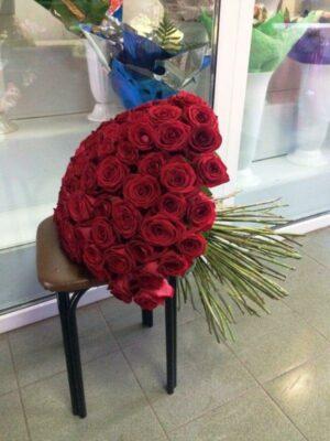 101 роза в янауле, розы в янауле, цветы янаул, 101 роза с доставкой