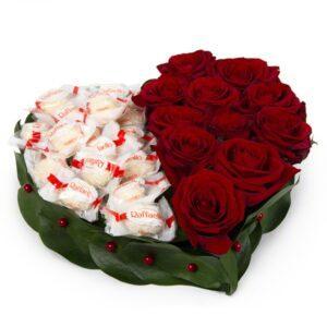 Сердце из роз и Rafaello