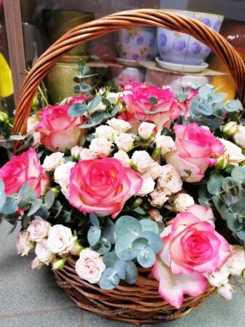 Корзина из роз в Янауле