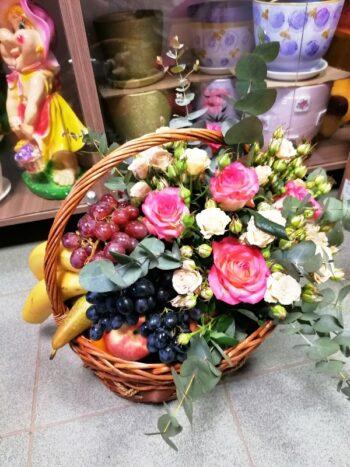 цветочно-фруктовая корзина Янаул