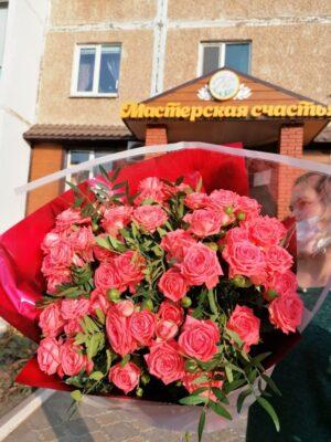 Букет «Розовый спрей»